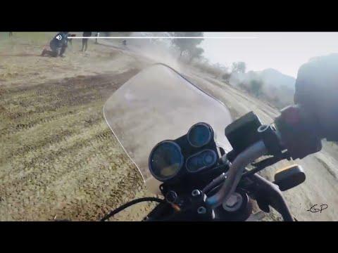 Racing Royal Enfield Himalayan BS4 on Flat track | Jaipur Ride Day 2