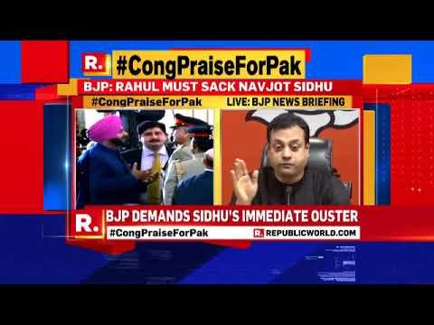 BJP Demands Navjot Singh Sidhu's Immediate Ouster