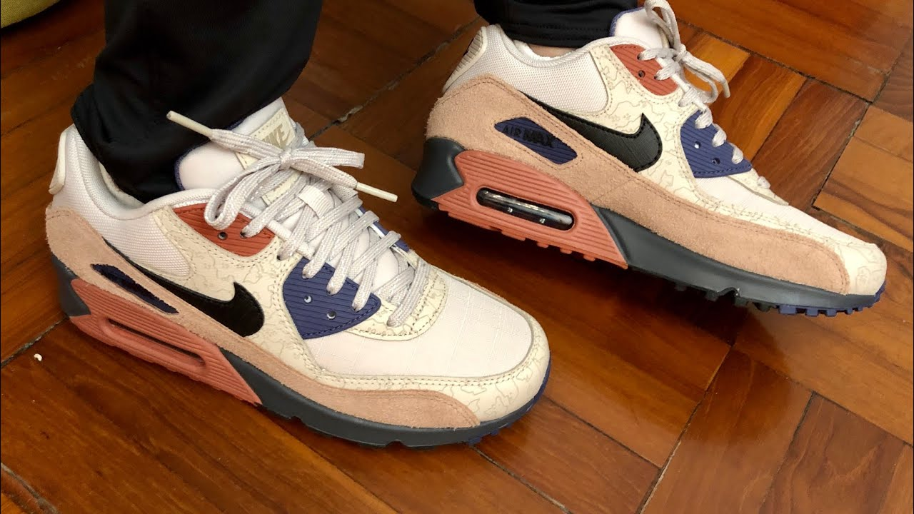 """Nike Air Max 90 NRG Desert Sand """"Camowabb"""" On feet review and Up Close Look"""