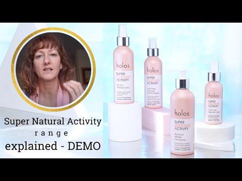 Holos Skincare - Super Natural Activity range explained