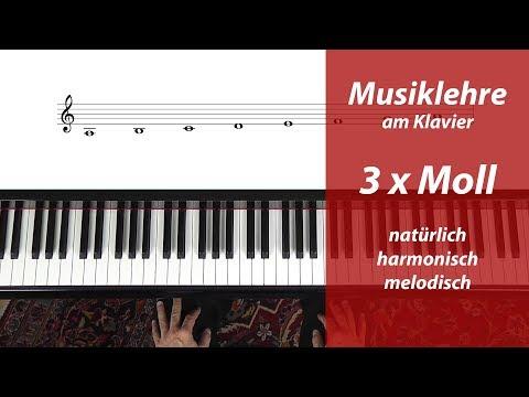 Moll-Tonleitern – endlich anschaulich erklärt – natürlich – harmonisch – melodisch