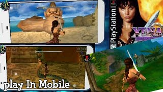 How To Play Xena The Warrior Princess Game In Mobile || PlayStation One Action & Adventure Game