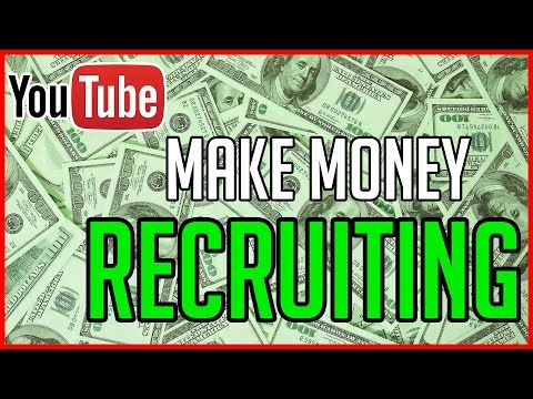 How To Make Money Recruiting on YouTube