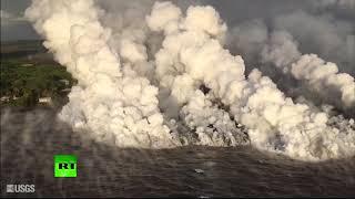 RAW: Thick smoke rises over Kilauea volcano in Hawaii
