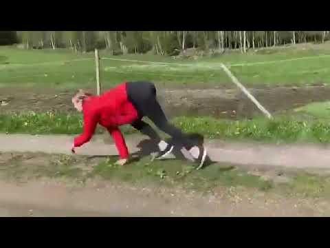 Видео девушка бегает как лошадь