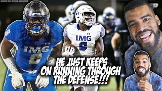1 Running Back In The Class Of 2019 RUNS THROUGH 7 DEFENDERS- Trey Sanders Highlights Reaction