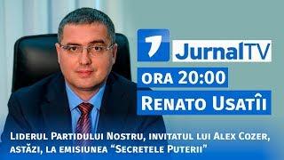 """Renato Usatîi, invitatul lui Alex Cozer, astăzi, la emisiunea """"Secretele Puterii"""""""