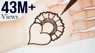 Simple and Attractive Love Heart Mehndi Design- Easy Mehndi for Beginners - Stylish Mehendi Designs
