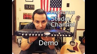 *PreSonus Studio Channel* Preamp DEMO - Acoustic Guitar Direct