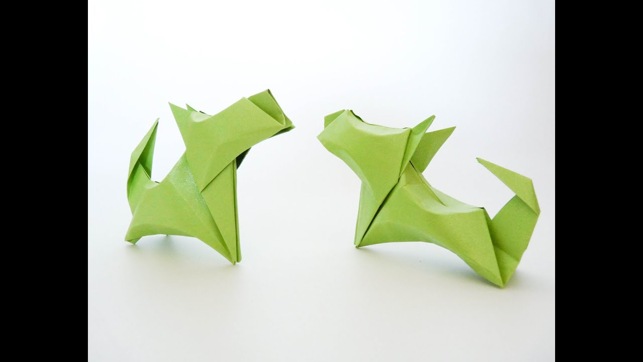 How To Make Origami Dog Youtube