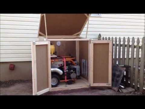 outdoor enclosure for portable generator youtube. Black Bedroom Furniture Sets. Home Design Ideas