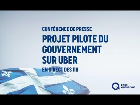 Projet pilote du gouvernement du Québec sur Uber