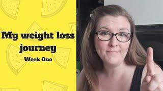 Weight Loss Journal Week 1 - Jan 2018