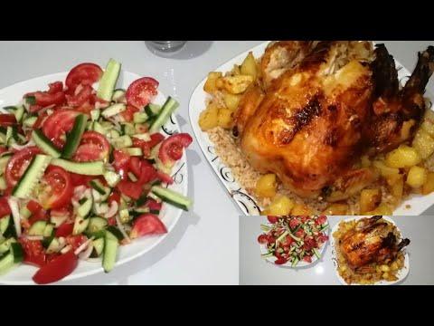 Enfes yemek tarifleri [İç pilavlı Tavuk Dolma Tarifi ] Fırında iç pilavlı Tavuk