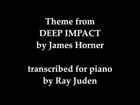 """Piano Solo """"DEEP IMPACT"""" theme by James Horner"""
