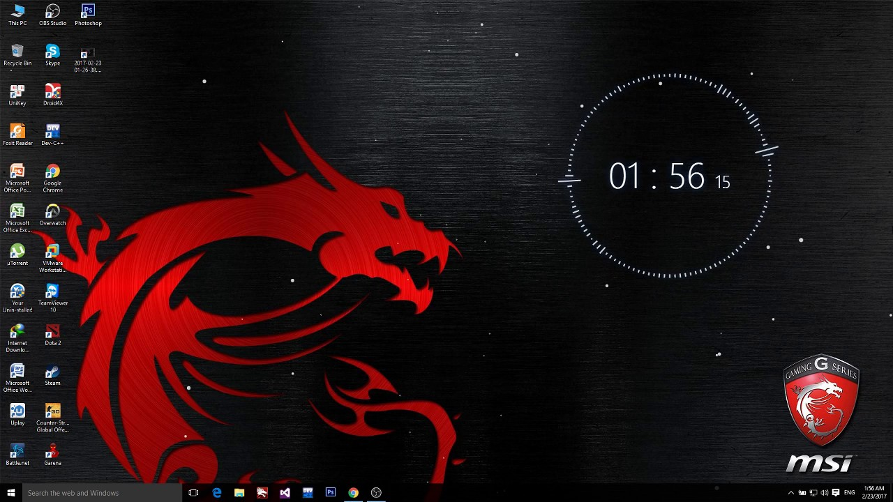 Wallpaper Engine Msi background with audio - YouTube