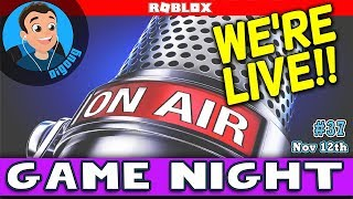 Join us We're Playing Roblox Live! DigDugPlays Game Night Live : Ep 37