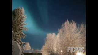 Northern lights timelapse taken with Oneplus One