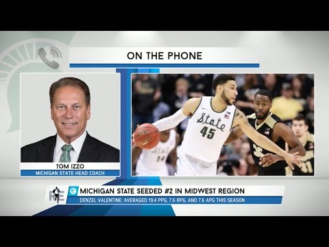 Michigan State Head Coach Tom Izzo Talks March Madness & More - 3/16/16
