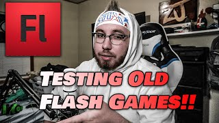 Testing Out My Old Flash Games!!
