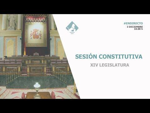 Sesión Constitutiva de la XIV Legislatura