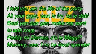 Falz - La Fete - Lyrics