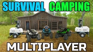 FARMING SIMULATOR 2017 | SURVIVAL CAMPING | WORKING OFF-GRID | MULTIPLAYER