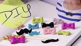 DIY Accessories: How to Make a Cute Bow Ring & Mustache Necklace | ANN LE thumbnail