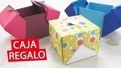 Como hacer caja de regalo de papel - Origami  (sin pegamento)