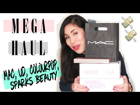 🔥 MEGA Haul 🔥 MAC, Urban Decay, ColourPop, Sparks Beauty | Compras | Peru