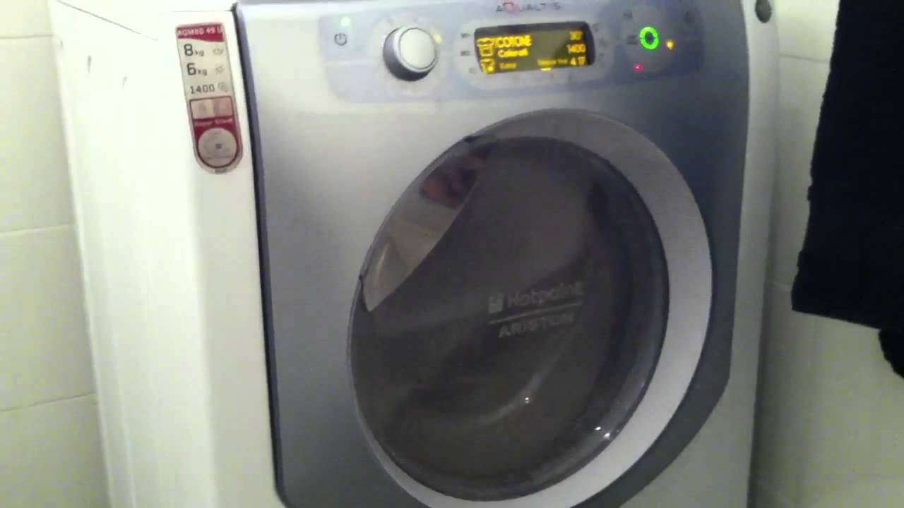 Indesit Waschmaschine Hotpoint Ariston Aqaltis Aqm8d 49 U - Youtube