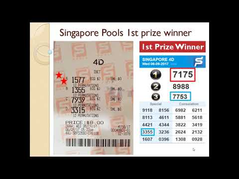 Singapore lottery 4D Pools first podium prize winner, SGP 4D, money