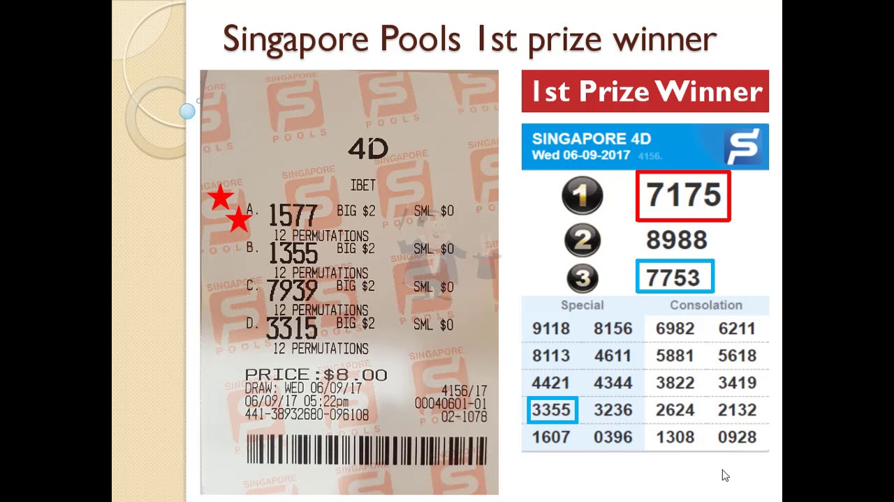 Singapore lottery 4D Pools first podium prize winner, SGP 4D, money win  Uncle Kumar predictions