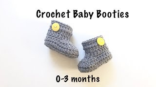 How to Crochet Baby Booties / Crochet Baby shoes (0-3 months)