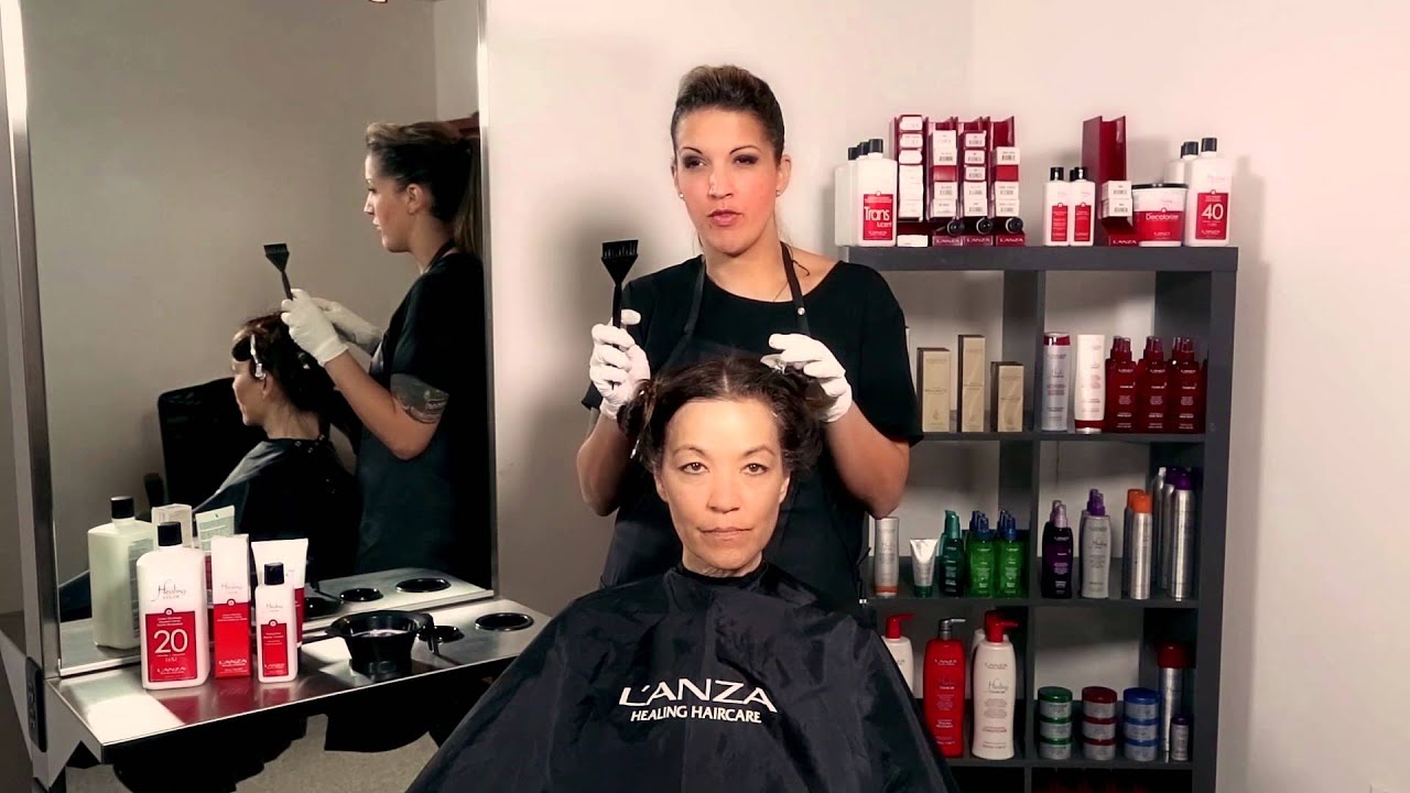 Lanza How To Better Grey Coverage For Your Clients Hair Youtube