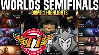 SKT vs G2 Game 1 Highlights Worlds 2019 SEMIFINALS - SKT T1 vs G2 Esports Game 1 Highlights Worlds