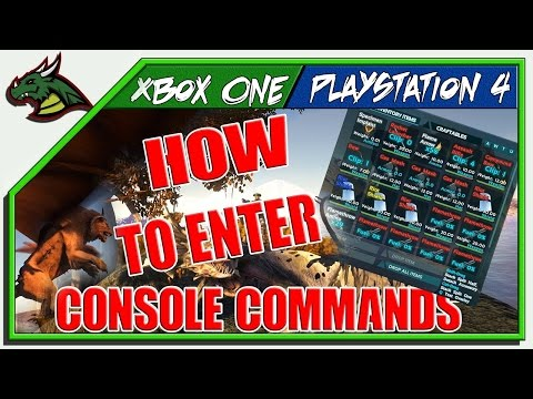 ARK! HOW TO USE CONSOLE COMMANDS XBOX ONE!!