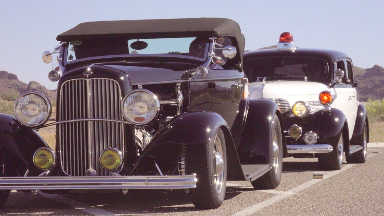 1932 Ford Police Escort to Havasu Deuce Car Show - YouTube