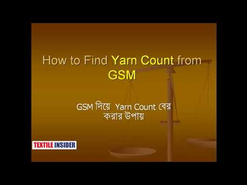 Yarn Count and GSM।।ইয়ার্ন কাউন্ট কথোপকথন A to Z।।TEXTILE INSIDER।।2018