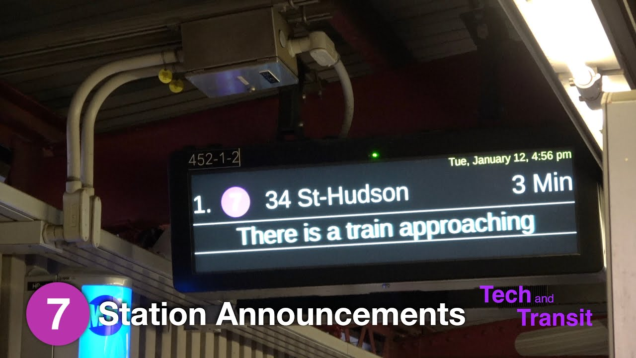 ⁴ᴷ Train Prediction and Arrival Announcement Testing on the Flushing Line