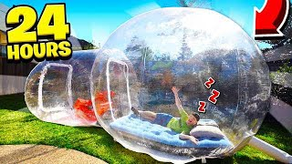 SPENDING 24 HOURS IN A BUBBLE TENT! Video