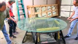 Shattered Glass Table Top W/lazy Susan Nov.2013