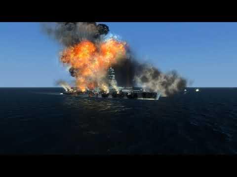 The Bismarck & The Nagato Vs The Titan   Silent Hunter 4 Fall Of The Rising Sun  