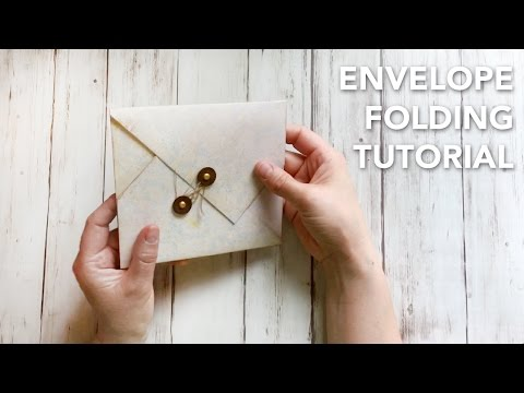 HOW TO fold an envelope in a beautiful way   TUTORIAL