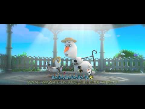 Frozen 'De Zomer' song - Sing-a-long Karaoke versie met Olaf   Offcial Disney video HD Dutch NL
