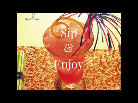 Gingerberry Sling - a cranberry take on Singapore Sling
