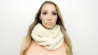 HOW TO KNIT BIG HERRINGBONE COWL