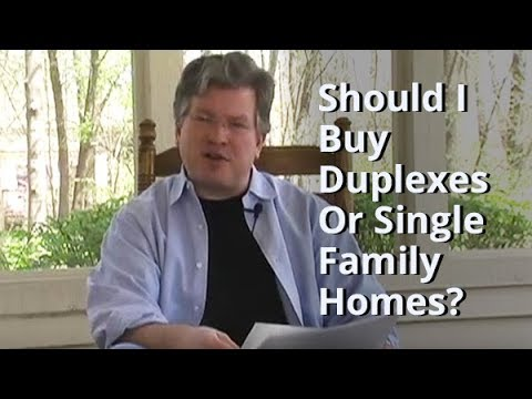 Should I Buy Duplexes Or Single Family Homes? - Real Estate Investing