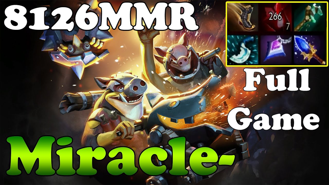 dota 2 miracle 8126mmr top 1 mmr in the world plays techies