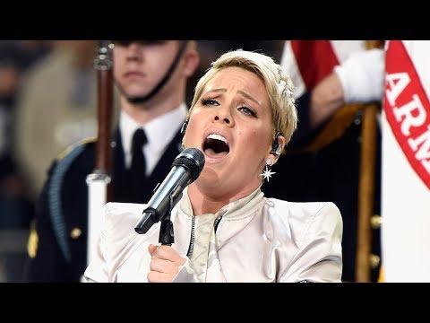 Pink Overcomes Flu for National Anthem Super Bowl 52 Performance